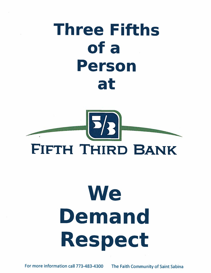 Three.Fifths of a Person at Fifth.Third.Bank Cover