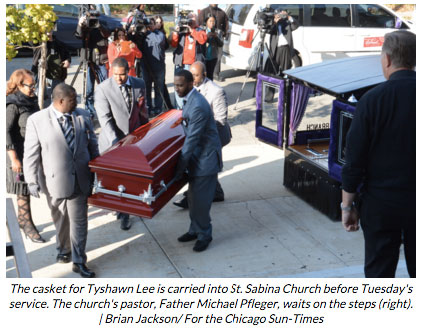 Sun Times 2015 11 10 funeral for 9 year old slain in gang violence