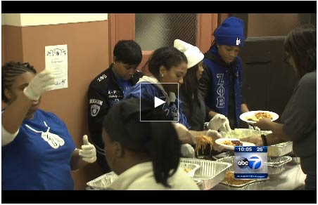 Christmas Dinner for the Homeless and Elderly at St. Sabina 2013