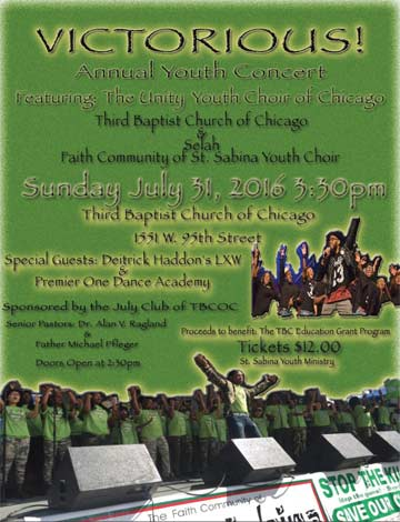 2016.07.31 Unity.Youth.Choir.Concert at.3rd.Baptist.Church