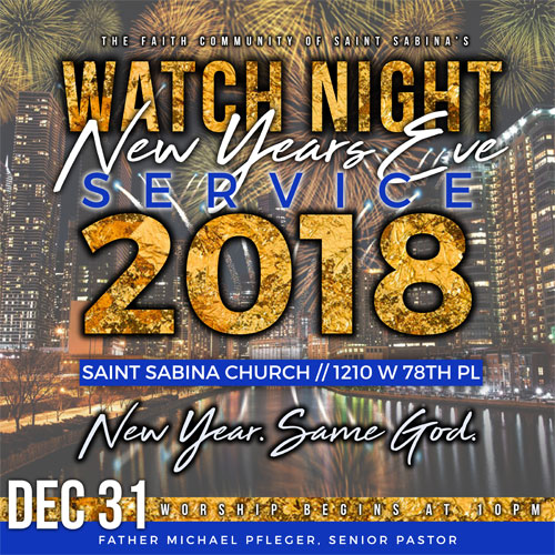 2018 New Year's Eve Watch Service: New Year. Same God.