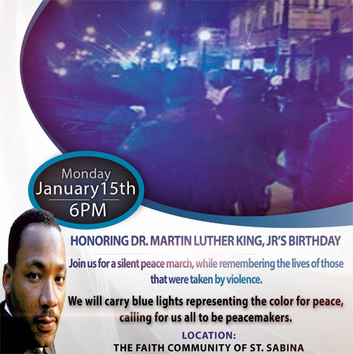 Martin Luther King, Jr. Day : Silent Peace March