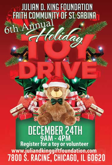 Julian.D.King Christmas Toy Drive 2016 - Register for a Toy or volunteer at http://www.juliandkinggiftfoundation.com