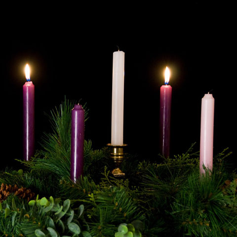 480 x 480 · 37 kB · jpeg, Advent Wreath with 2 Candles Lit