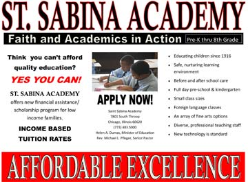 Academy Affordable Excellence 2016 Apply Now Flyer