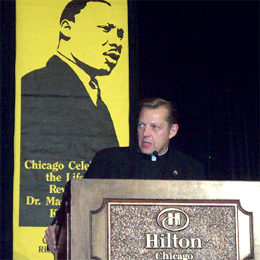 Senior Pastor Pfleger speaks at the Annual Chicago Celebration of the Life of Martin Luther King, Jr.