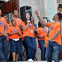 Day of Service on July.9.2016. _ Flash Mob Singers _ photo by Ben Tchaou