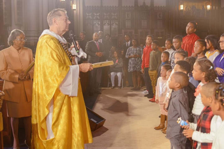 100th Anniversary Worship Service on October 2 2016 | Father Pfleger and elders pass the baton to keep the faith to young
