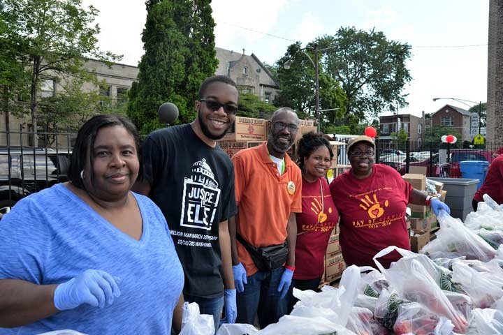 Day of Service on July.9.2016. _ Food Give Away _ photo by Ben Tchaou