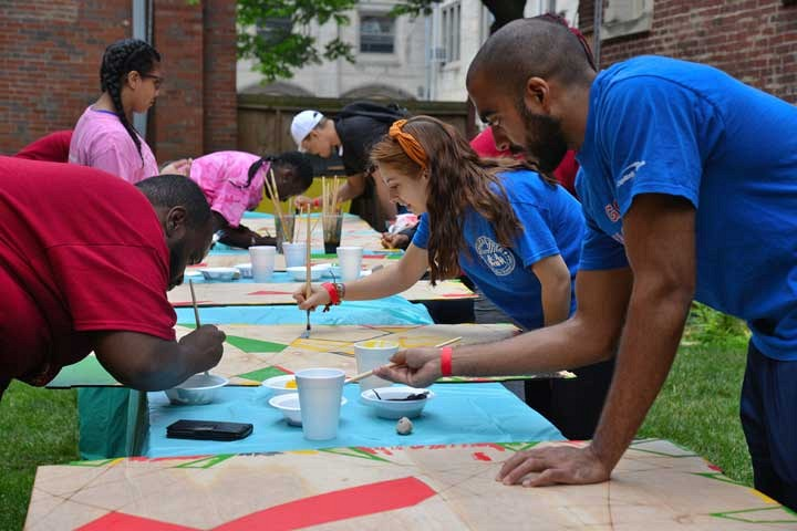 Day of Service on July.9.2016. _ Mural Painting _ photo by Ben Tchaou