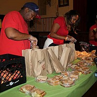 Day of Service on July.9.2016. _ Making 500 sandwiches _ photo by Chinta Strausberg