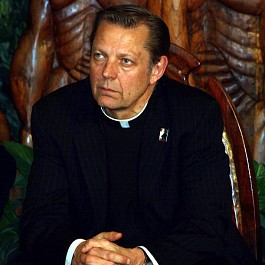 Portrait of Rev Pfleger at St. Sabina 449px by 480px