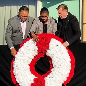 Fr. Michael Pfleger speaks at MLK50 commemoration