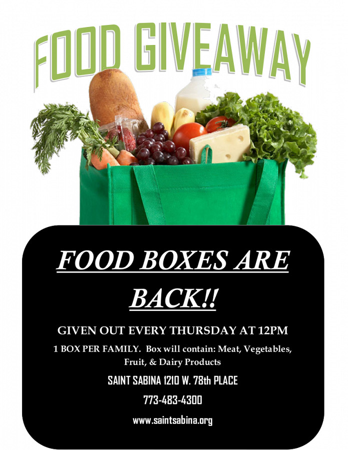 2020 Food Giveaway Updated