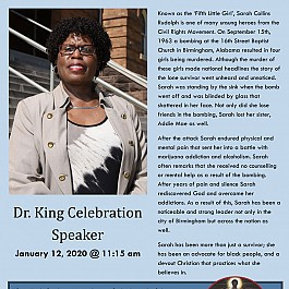 Martin Luther King Jr Celebration with Sarah Collins Rudolph