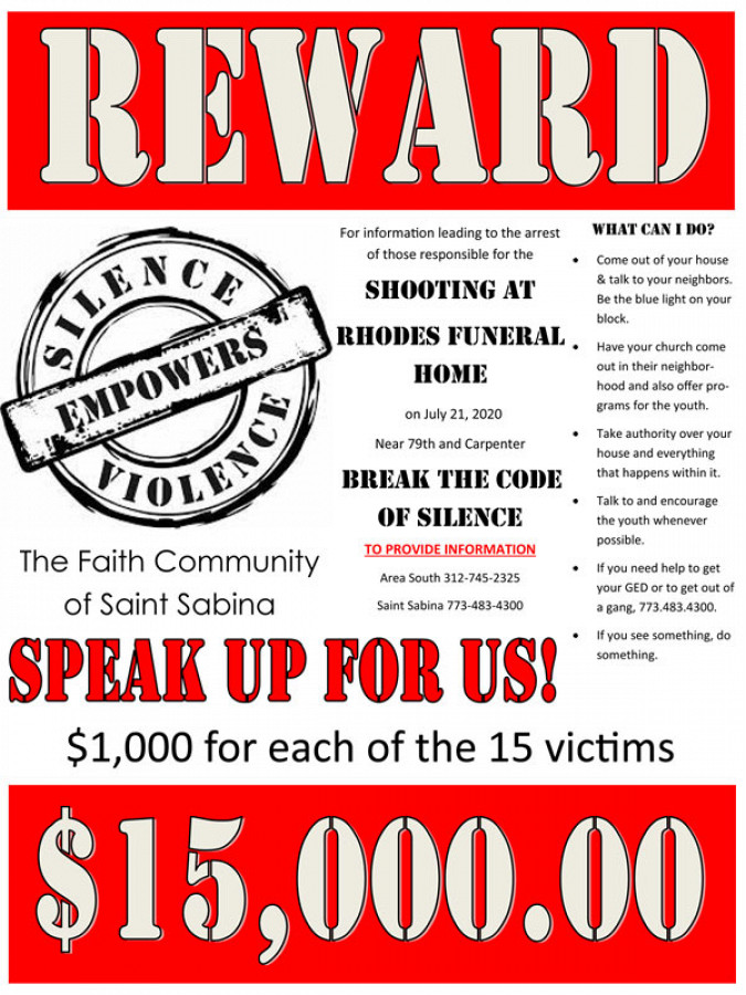 Reward | Break the Code of Silence | Shooting at Rhodes Funeral Home