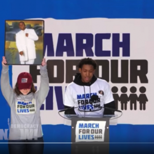 Trevon Bosley speaks at March for Our Lives